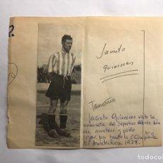 Coleccionismo deportivo: FÚTBOL. QUINCOCES, JACINTO. RECORTE PRENSA VISTIENDO LA CAMISETA DEL DEPORTIVO ALAVÉS (H.1928?). Lote 154876581
