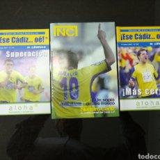 Coleccionismo deportivo: 3 REVISTA DEL CADIZ CLUB DE FUTBOL. Lote 155181472