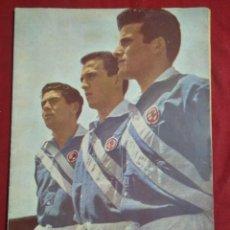 Coleccionismo deportivo: REVISTA DEPORTIVA FUTBOL DICEN Nº197 PORTADA SIMO, RODRI, Y OLIVELLA ESPAÑA INDUSTRIAL AÑO 1956. Lote 155213702