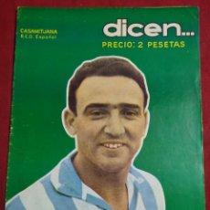 Coleccionismo deportivo: REVISTA DEPORTIVA FUTBOL DICEN Nº 207 PORTADA CASAMITJANA JUGADOR R.D.ESPAÑOL AÑO 1956. Lote 155219346