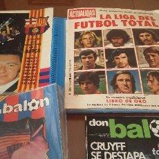 Coleccionismo deportivo: LOTE REVISTAS ANTIGUAS FUTBOL . FC BARCELONA . AÑOS 70 Y 80. Lote 155378462
