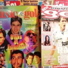 Coleccionismo deportivo: REVISTAS ANTIGUAS MUSIC GOL. NÚMEROS 1 Y 2. FÚTBOL Y MÚSICA.. Lote 155543134