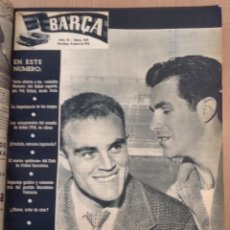 Coleccionismo deportivo: REVISTA BARÇA UN TOMO CON TODO EL AÑO 1958 51 REVISTAS. Lote 156730510