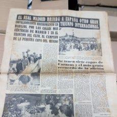 Coleccionismo deportivo: ANTIGUO PERIÓDICO REAL MADRID. Lote 156919405