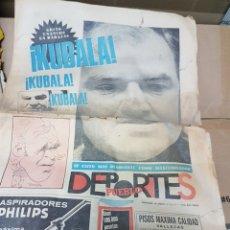 Coleccionismo deportivo: REPORTAJE KUBALA PERIÓDICO EL PUEBLO. Lote 156925270