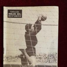 Coleccionismo deportivo: COLECCIÓN IDOLOS DEL DEPORTE Nº 80 DOMINGUEZ REAL MADRID, FÚTBOL, LIGA ESPAÑOLA AÑOS 50. Lote 157230338