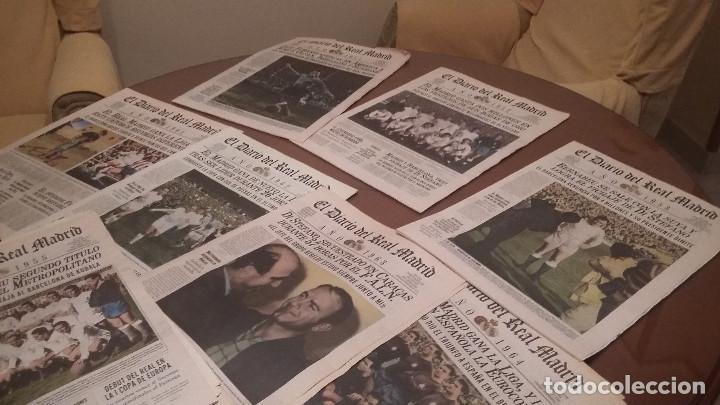 PERIODICO REAL MADRID 1955 . DIARIO OFICIAL .HISTORICO (Coleccionismo Deportivo - Revistas y Periódicos - otros Fútbol)