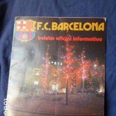 Coleccionismo deportivo: F.C.BARCELONA BOLETIN OFICIAL INFORMATIVO N.54 1975. Lote 157433158