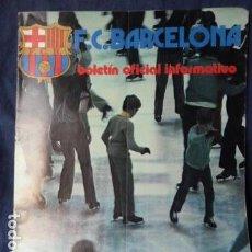 Coleccionismo deportivo: F.C.BARCELONA BOLETIN OFICIAL INFORMATIVO N.56 1975. Lote 157435050