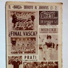Coleccionismo deportivo: DICEN... Nº 1344 (31-5-1969) 1ER DIARIO DEPORTIVO DE LA TARDE. BARCELONA.. Lote 158115706