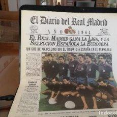 Coleccionismo deportivo: EUROCOPA 1964 ESPAÑA. 2 PERIODICOS HISTORICOS -FINAL Y SEMIFINALES - OCASION.. Lote 158164382