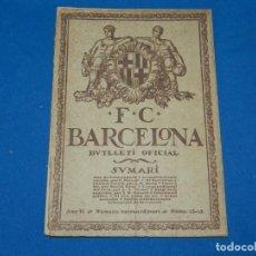 Coleccionismo deportivo: (M) BUTLLETI DEL FUTBOL CLUB BARCELONA ANY II NUM 12 - 13 SPARTA DE PRAGA - FC BARCELONA. Lote 158367930