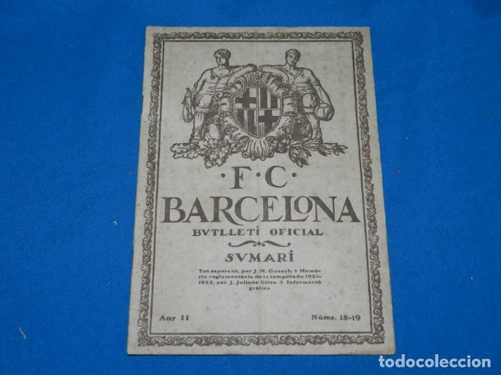 (M) BUTLLETI DEL FUTBOL CLUB BARCELONA ANY II NUM18 -19 INAUGURACION CAMP DE LES CORTS NOTTS COUNTY (Coleccionismo Deportivo - Revistas y Periódicos - otros Fútbol)