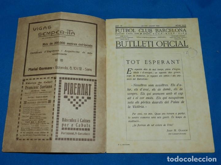 Coleccionismo deportivo: (M) BUTLLETI DEL FUTBOL CLUB BARCELONA ANY II NUM18 -19 INAUGURACION CAMP DE LES CORTS NOTTS COUNTY - Foto 2 - 158368198