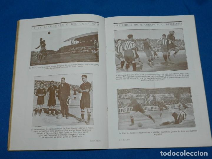 Coleccionismo deportivo: (M) BUTLLETI DEL FUTBOL CLUB BARCELONA ANY II NUM18 -19 INAUGURACION CAMP DE LES CORTS NOTTS COUNTY - Foto 3 - 158368198