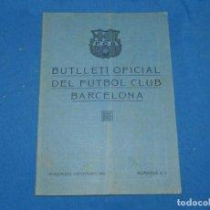 Coleccionismo deportivo: (M) BUTLLETI DEL FUTBOL CLUB BARCELONA ANY I NUM 10 - 11 NOVEMBRE DESEMBRE 1921 SPARTA DE PRAGA. Lote 158368714