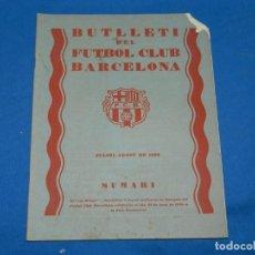 Coleccionismo deportivo: (M) BUTLLETI DEL FUTBOL CLUB BARCELONA ANY II NUM 11 JULIOL AGOST 1929 ,27X21 CM, SEÑALES DE USO . Lote 158370034