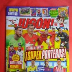 Coleccionismo deportivo: REVISTA JUGON Nº 146 - CON LAS HOJAS PARA PEGAR EL MERCADO DE INVIERO - ESTE 2018 2019. Lote 158407154