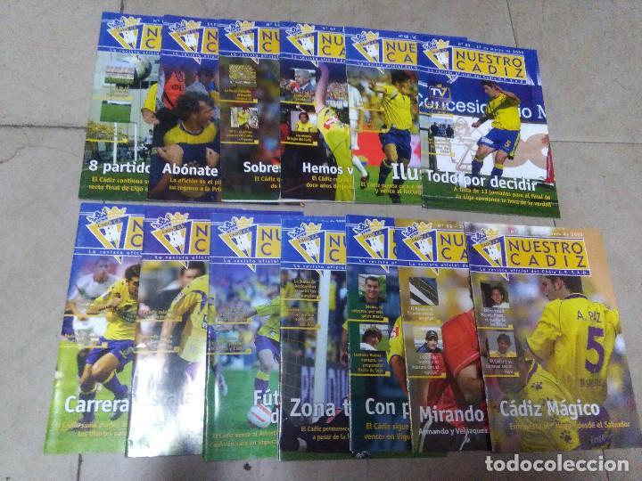 LOTE REVISTA DEPORTIVA NUESTRO CÁDIZ AÑO 2006 ( 13 EJEMPLARES ) VER LEYENDA Y FOTOGRAFÍAS (Coleccionismo Deportivo - Revistas y Periódicos - otros Fútbol)
