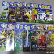 Coleccionismo deportivo: LOTE REVISTA DEPORTIVA NUESTRO CÁDIZ AÑO 2006 ( 13 EJEMPLARES ) VER LEYENDA Y FOTOGRAFÍAS. Lote 158438198