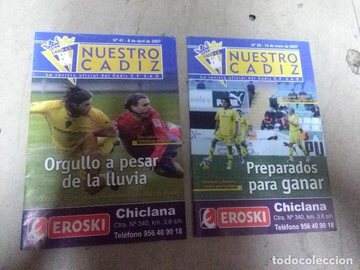 LOTE REVISTA DEPORTIVA NUESTRO CÁDIZ AÑO 2006 ( 2 EJEMPLARES ) VER LEYENDA Y FOTOGRAFÍAS (Coleccionismo Deportivo - Revistas y Periódicos - otros Fútbol)