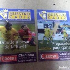 Coleccionismo deportivo: LOTE REVISTA DEPORTIVA NUESTRO CÁDIZ AÑO 2006 ( 2 EJEMPLARES ) VER LEYENDA Y FOTOGRAFÍAS. Lote 158438530