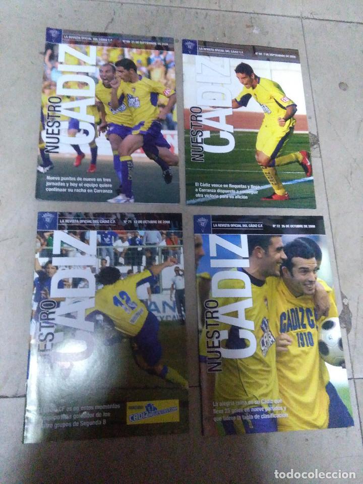 LOTE REVISTA DEPORTIVA NUESTRO CÁDIZ AÑO 2006 ( 4 EJEMPLARES ) VER LEYENDA Y FOTOGRAFÍAS (Coleccionismo Deportivo - Revistas y Periódicos - otros Fútbol)