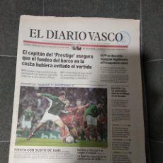 Coleccionismo deportivo: EL DIARIO VASCO SELECCION DE EUSKADI 1 MACEDONIA 1 / 29 -12-2002. Lote 158609958