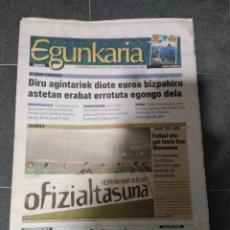 Coleccionismo deportivo: GARA SELECCION DE EUSKADI 1 MACEDONIA 1/ DICIEMBRE 2002. Lote 158611418