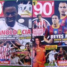 Coleccionismo deportivo: LOTE 2 REVISTAS DE FUTBOL 90' - Nº 9 Y Nº 11. Lote 158696210