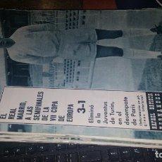 Coleccionismo deportivo: REVISTA REAL MADRID N° 142 DE 1962. Lote 158941114