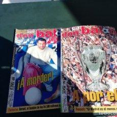 Coleccionismo deportivo: DON BALON EUROALAVES 2001 - 2 REVISTAS HCAS.. Lote 159443558