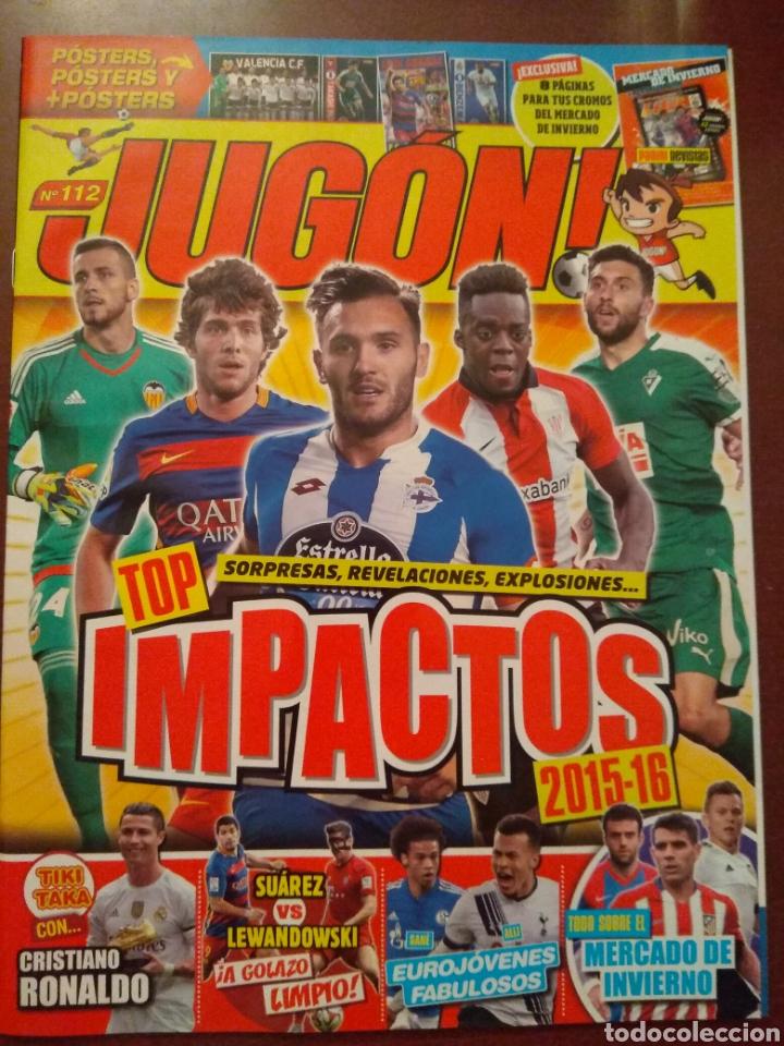 REVISTA JUGÓN 112 + HOJAS MERCADO INVIERNO + ACTUALIZACIÓN 15/16 (Coleccionismo Deportivo - Revistas y Periódicos - otros Fútbol)