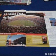 Coleccionismo deportivo: POSTER F.C.BARCELONA ( CAMP NOU CAPITULO 3 ) TRASERA ENTREVISTA. Lote 160308470