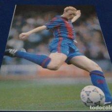 Coleccionismo deportivo: MINI POSTER F.C.BARCELONA ( KOEMAN ) . Lote 160309218