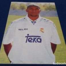 Coleccionismo deportivo: MINI POSTER REAL MADRID ( ZE ROBERTO ) + SONGOO. Lote 160309774
