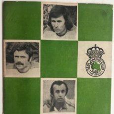 Coleccionismo deportivo: REVISTA BOLETIN INFORMATIVO N° 9 - REAL RACING CLUB DE SANTANDER - ENERO 1978. Lote 160356442
