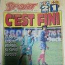 Coleccionismo deportivo: PERIÓDICO DIARIO SPORT 16 MARZO 1995. Lote 160475770
