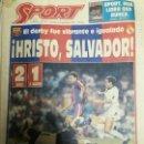 Coleccionismo deportivo: PERIÓDICO DIARIO SPORT 6 SEPTIEMBRE 1992. Lote 160476114