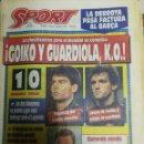 Coleccionismo deportivo: PERIÓDICO DIARIO SPORT 1 ABRIL 1993. Lote 160476346