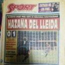 Coleccionismo deportivo: PERIÓDICO DIARIO SPORT 21 NOVIEMBRE 1993. Lote 160476526