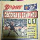 Coleccionismo deportivo: PERIÓDICO DIARIO SPORT 10 JUNIO 1993. Lote 160476898
