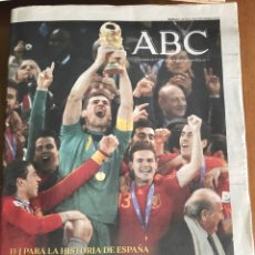 Coleccionismo deportivo: ABC LUNES 12/07/2010. ESPAÑA CAMPEONES DEL MUNDO. MUNDIAL. Lote 160783993