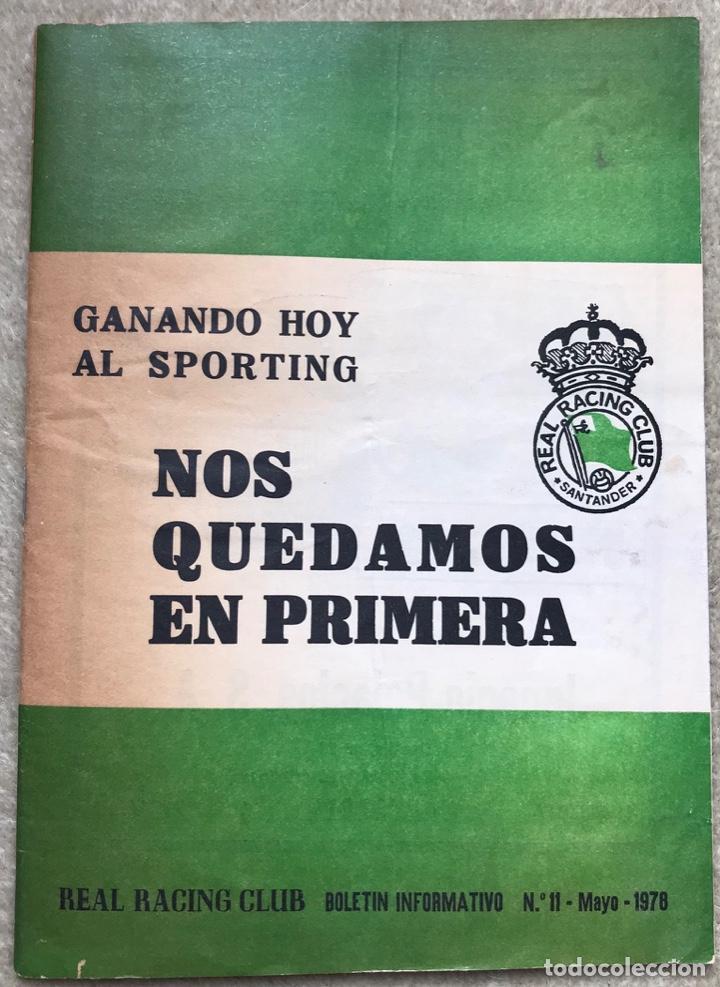 BOLETÍN INFORMATIVO N° 11 (MAYO 1978) - REAL RACING CLUB DE SANTANDER (Coleccionismo Deportivo - Revistas y Periódicos - otros Fútbol)