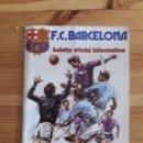 Coleccionismo deportivo: FC BARCELONA BOLETIN BARÇA FUTBOL Nº60 1976. Lote 161115198