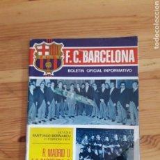 Coleccionismo deportivo: FC BARCELONA BOLETIN BARÇA FUTBOL Nº37 1974 CON SUPLEMENTO MAINADA PEQUES. Lote 161113878