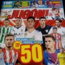Coleccionismo deportivo: REVISTA JUGON N° 139 + POSTER INIESTA + MINIPOSTER. Lote 162302714