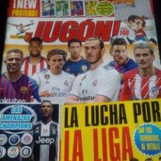 Coleccionismo deportivo: REVISTA JUGON N° 140 CON CALENDARIO LIGA + MINIPOSTERS. Lote 162303590
