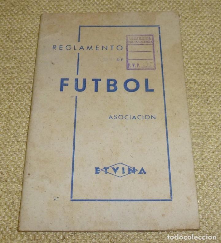 REGLAMENTO DE FUTBOL ASOCIACIÓN.CON DEDICATORIA. (Coleccionismo Deportivo - Revistas y Periódicos - otros Fútbol)