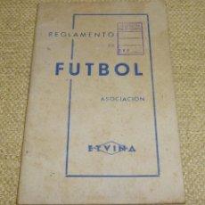 Coleccionismo deportivo: REGLAMENTO DE FUTBOL ASOCIACIÓN.CON DEDICATORIA.. Lote 162325794